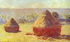 Claude Monet: Haystack. End of the Summer. Morning.