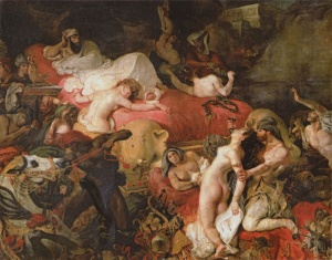 The Death of Sardanapalus by Eugène Delacroix.